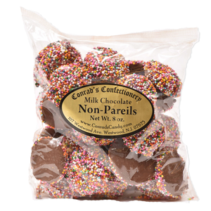 Milk Chocolate Non Pareils- 8 oz bag