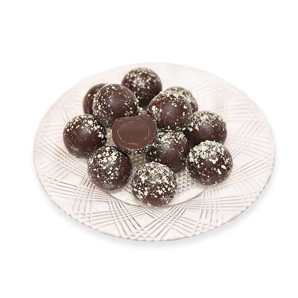 Dark Chocolate Mint Truffles (Half Pound Box)