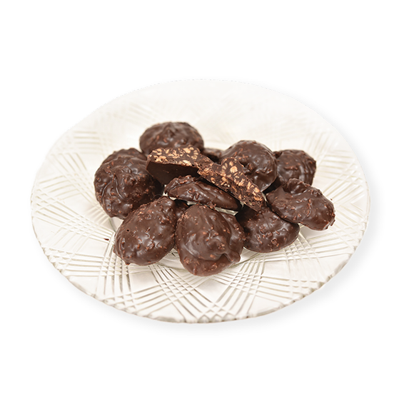 Dark Chocolate Coconut Nibs (Half Pound Box)