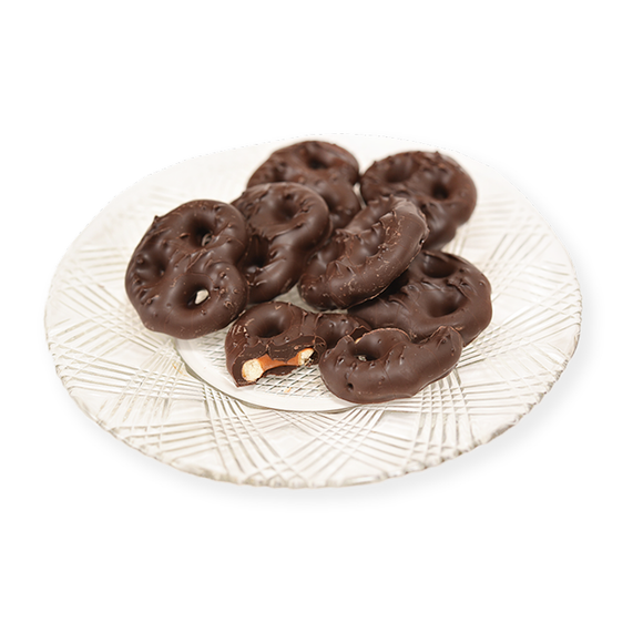 Dark Chocolate Pretzels (Half Pound Box)
