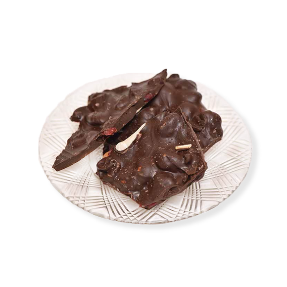 Dark Chocolate Salted Cranberry Nut Bark (Half Pound Box)