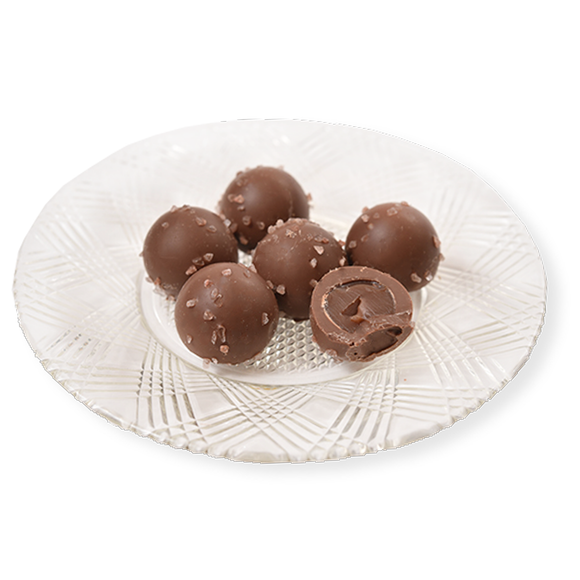 Milk Chocolate Sea Salt Caramel Truffles (Half Pound Box)