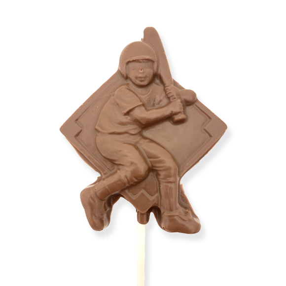 Milk Chocolate Baseball Player Pop