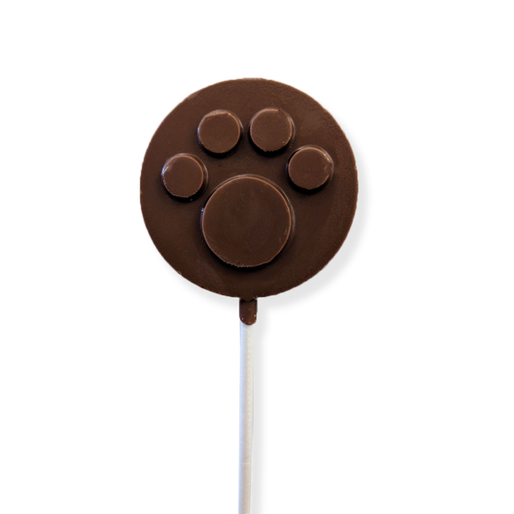 Milk Chocolate Dog Paw Lollipop