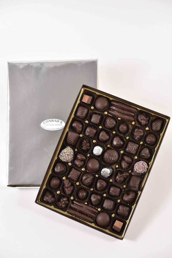 Large assortment of our favorite dark chocolates