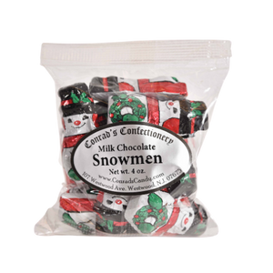 Milk Chocolate Foiled Snowmen- 4 oz bag