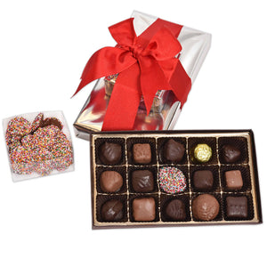 16 Piece Assorted Gift Box w/ Milk & Dark Non-Pariel box