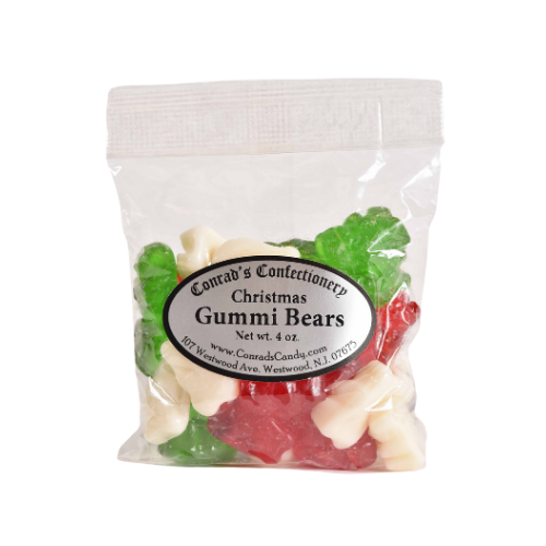 Christmas Gummi Bears- 4 oz bag