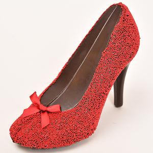 Milk Chocolate Red High Heel Shoe (Hollow)