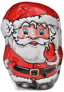 "Hollow Foiled Santa- 2 1/2"" (1 oz net weight) - Conrad's Confectionery"