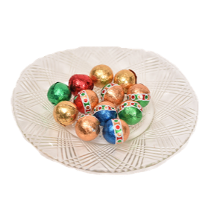 Milk Chocolate Foil Ornaments Loose (Half Pound Red Box)