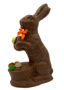 "8"" Milk Chocolate Easter Bunny # 30 - ""Sitter w/ Basket"""