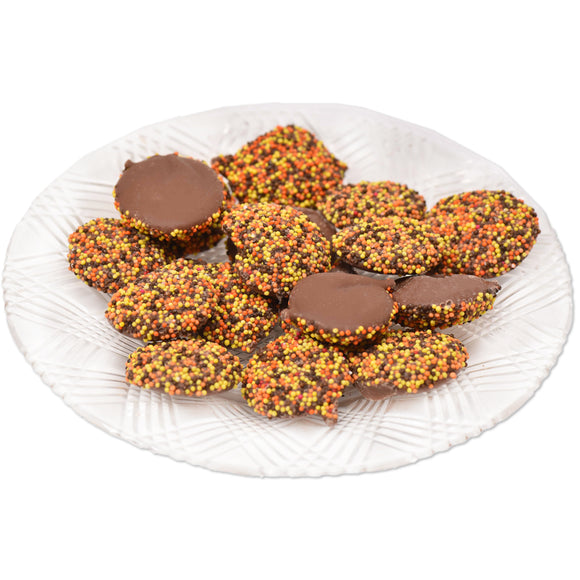 Milk Chocolate Fall Non-Pareils (Half Pound Box)