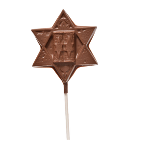 Milk Chocolate Torah Star Pop