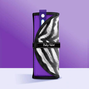 Baby Valet™ in Zebra Print • Outfit Organizer & Wet Bag • All-In-One Roll • Gender-Neutral Baby Shower Gift