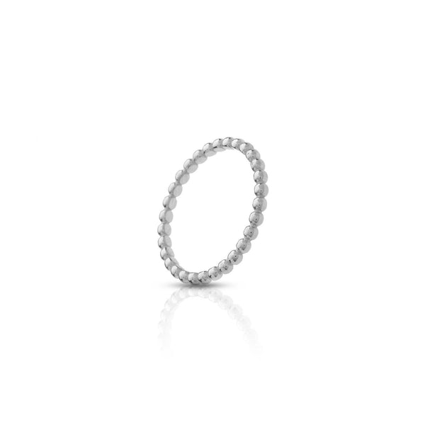 Anillo stacking bubbles silver