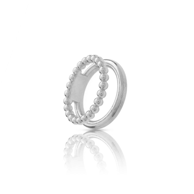 Anillo double bubbles silver