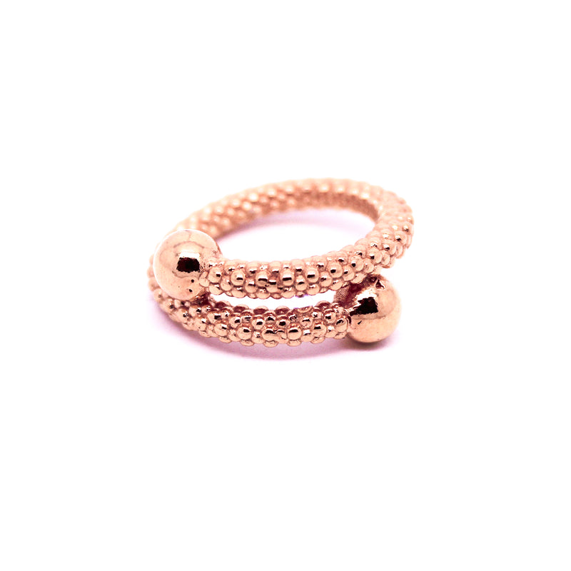 Anillo tiny bubbles rose - Nanna Folk