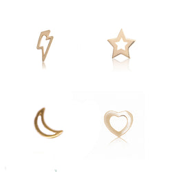 Pack pendientes little sweetie galaxy shape - Nanna Folk