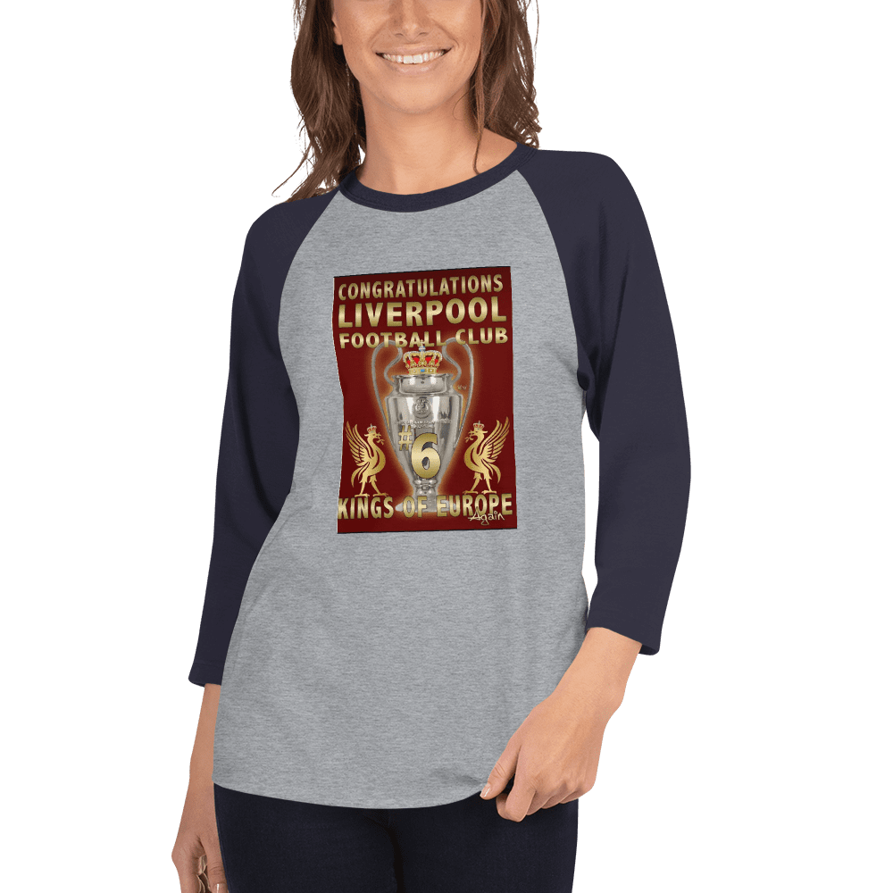 Liverpool 2019 Trophy Women 3/4 sleeve raglan shirt