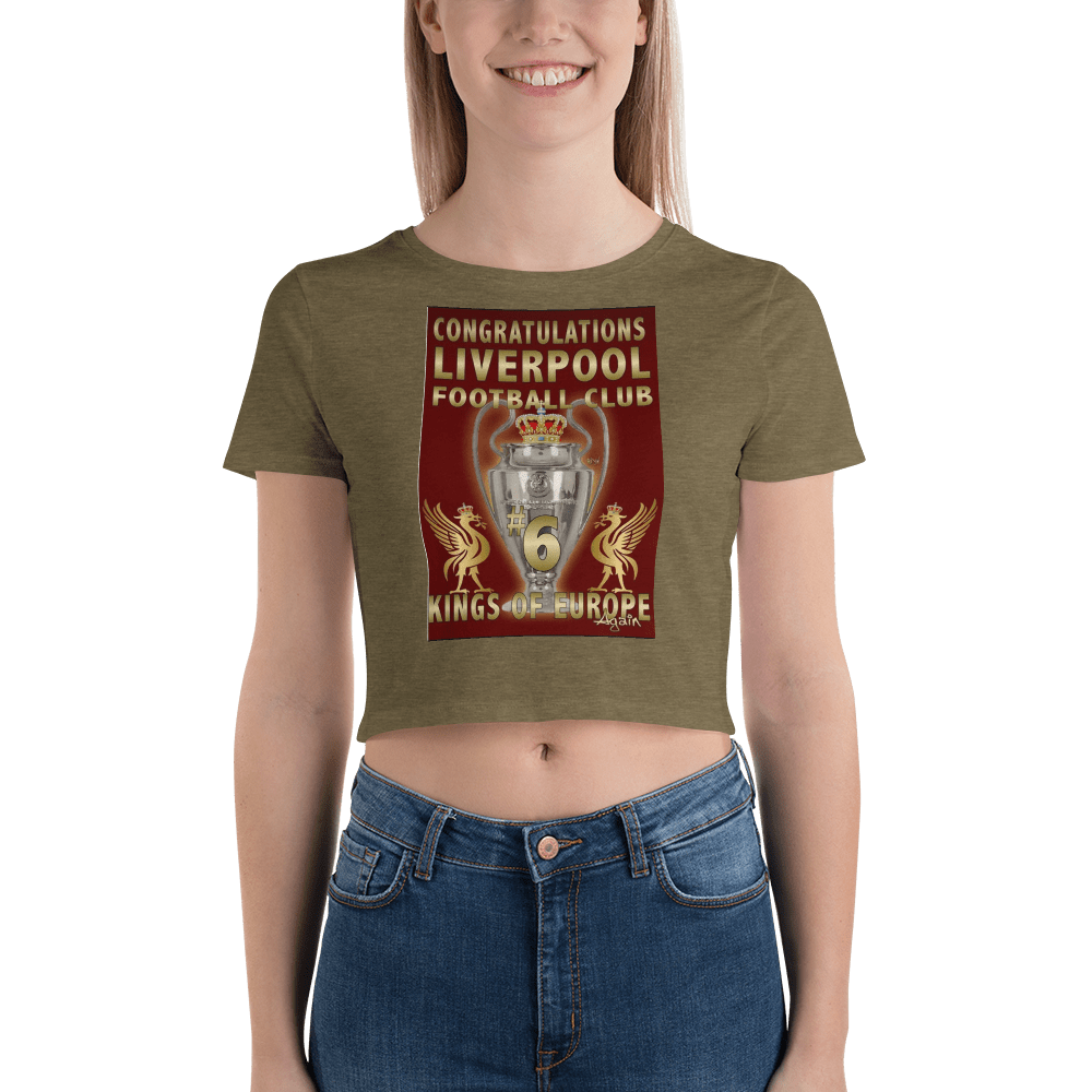 Liverpool 2019 Trophy Women's Crop Tee