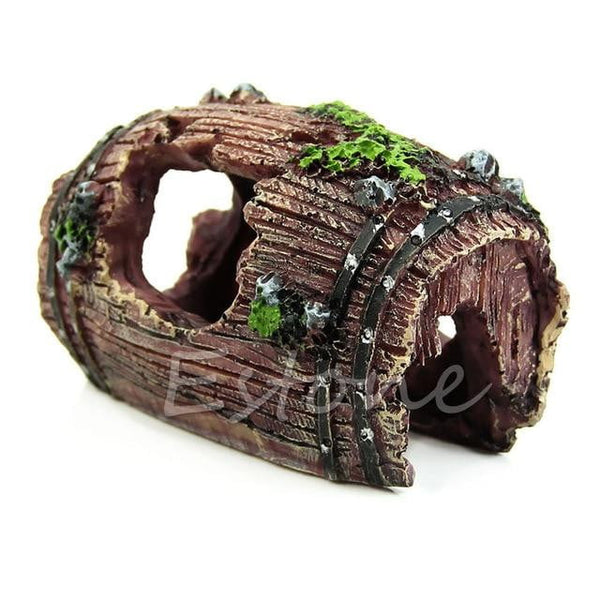 Artificial Barrel Resin Landscap Decoration Cave
