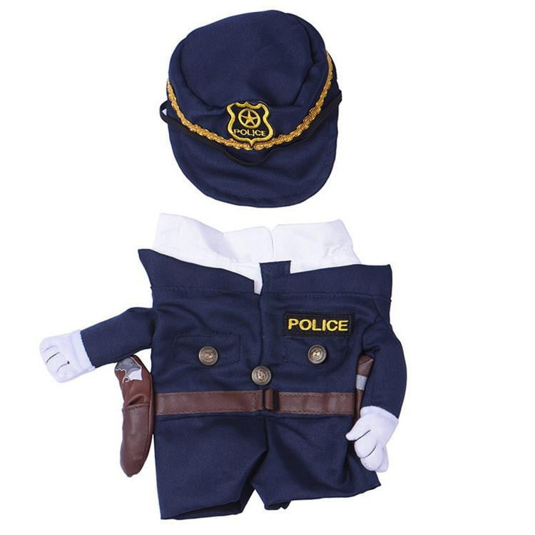Funny Transformed Police Pet Dog Clothes