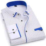 Men Fashion Long Sleeved  Slim Fit Shirt