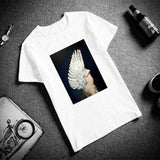 Wings Feather Surreal Artwork Top