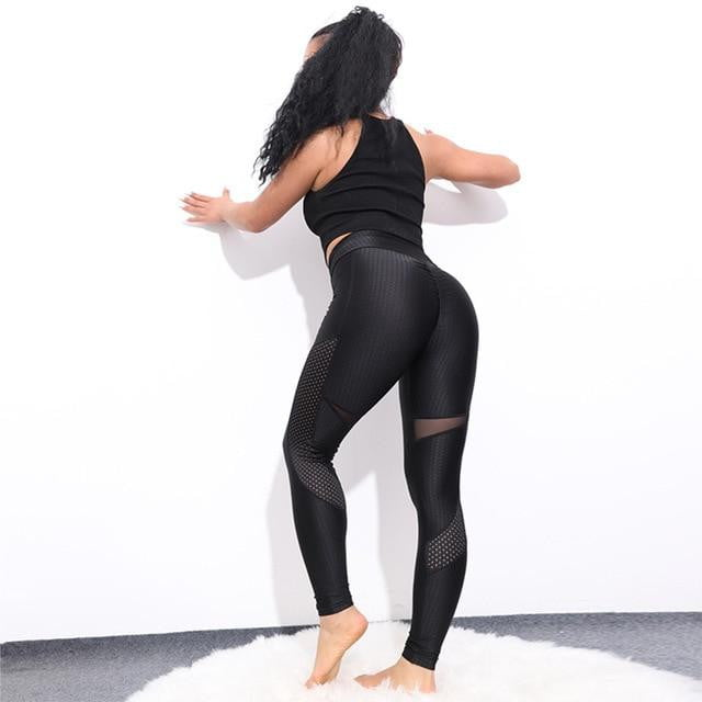 Breathable Knit Ankle-Length Workout Leggings