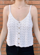 Load image into Gallery viewer, Gema Crochet Button Tank