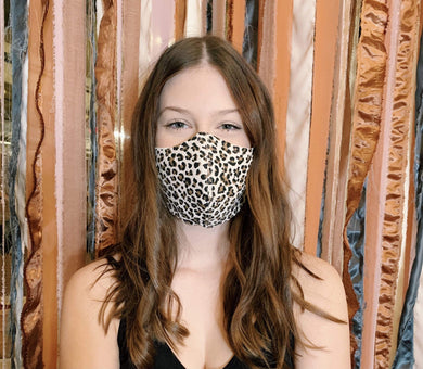 Le Lis Other Accessories Ivory Leopard Face Covering