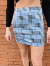 Load image into Gallery viewer, Lola Plaid Mini Skirt - Blue