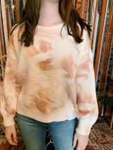 Load image into Gallery viewer, Miracle Fashion Sweaters Peachy Keen Tie Dye Sweater
