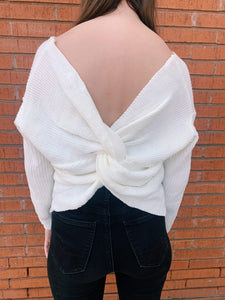 Willow Knot Back Sweater - Ivory