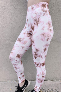 Peach Love California/F. Fawn Fashion Knit Tops Jadyn Tie Die Sport Set Pink- Pants