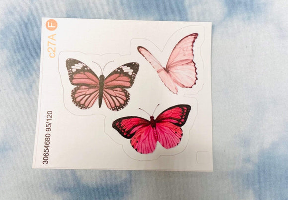 Red Bubble sticker 3 Pink Butterflies