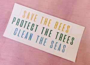 Bees, Trees, Seas Sticker