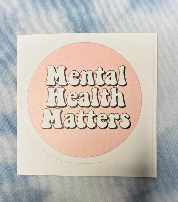 Red Bubble sticker Mental Health Matters