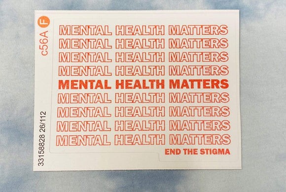 Red Bubble sticker Mental health matters - End the stigma