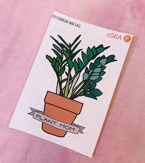 Red Bubble sticker Plant Mom Sticker
