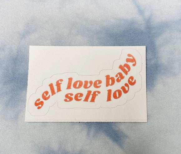 Red Bubble sticker Self Love Baby