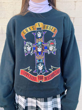 Load image into Gallery viewer, Rockabilia Fashion Sweaters Guns and Roses Band Crewneck