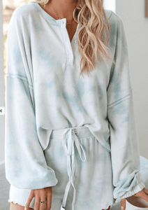 Sky Tie Dye Matching Set - Top