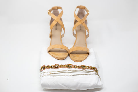 a pair of sandal in the photo