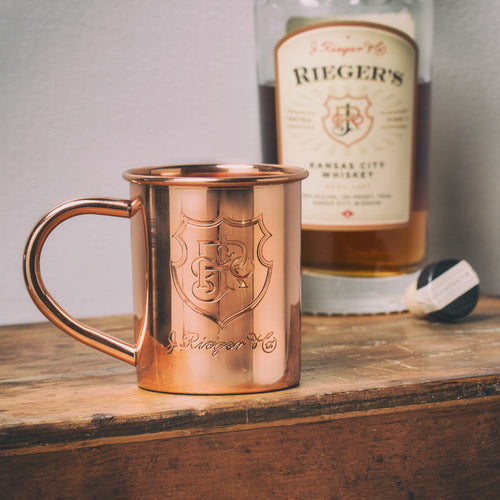 Etched Copper Mug