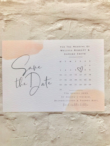 Digital Print Calendar Save The Date