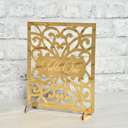 Lasercut Gated Style Table Names / Numbers