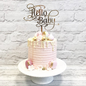 """Hello Baby"" Cake Topper"