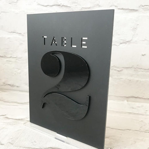 Layered Table Numbers